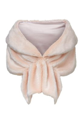 Unreal Fur Champagne Wrap in Pink