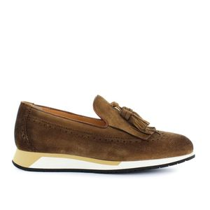SANTONI Low shoes Loafers Men Brown