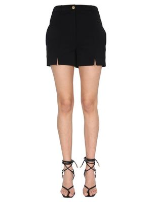 BOUTIQUE MOSCHINO WOMEN'S 030111240555 BLACK OTHER MATERIALS SHORTS