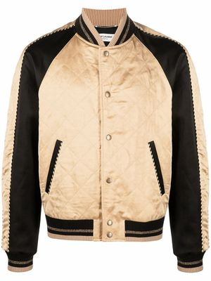 SAINT LAURENT MEN'S 643883Y1C318045 BEIGE VISCOSE JACKET