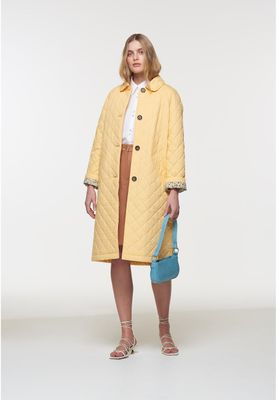 Palones Long Quilted Car Coat