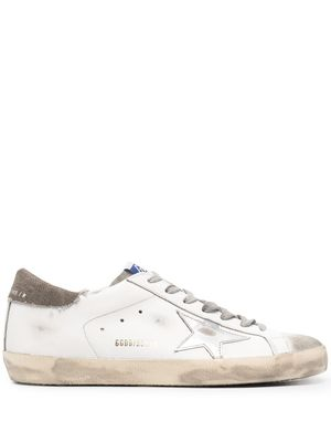 GOLDEN GOOSE MEN'S GMF00101F00114910511 WHITE LEATHER SNEAKERS