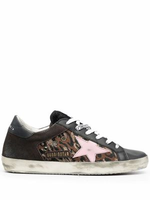 GOLDEN GOOSE WOMEN'S GWF00103F00019380217 BLACK LEATHER SNEAKERS