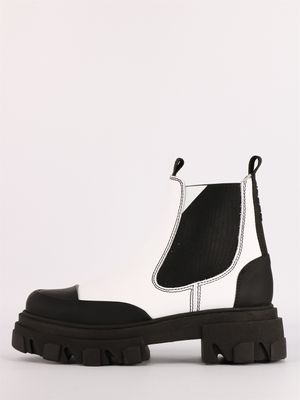 White low Chelsea boot