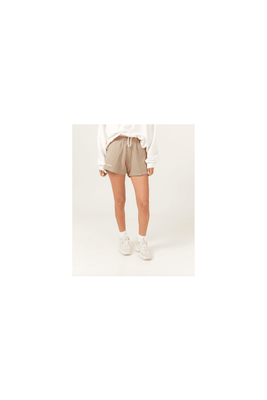 Women's Don't Tell Mama Tennis Shorts in White, Beige and Green