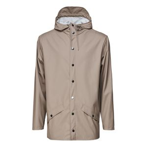 Rains Short Hooded Popper Jacket Taupe