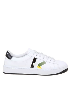 Kenzo sneakers kourt lace up in white leather