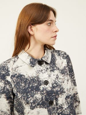 Chyna M Cropped Boxy Jacket Marble Print , Colour:Marble