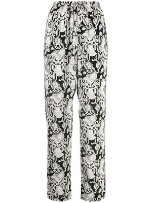 SEE BY CHLOÉ WOMEN'S CHS20SPA08038905 MULTICOLOR VISCOSE PANTS