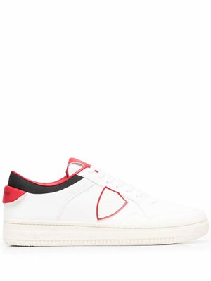 PHILIPPE MODEL MEN'S LYLUBL03 WHITE LEATHER SNEAKERS