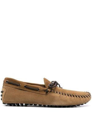 TOD'S MEN'S XXM64C0DQ20RE0S415 BROWN SUEDE LOAFERS