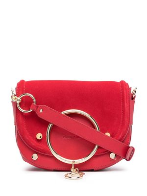 SEE BY CHLOÉ WOMEN'S CHS20ASA29820636 RED LEATHER SHOULDER BAG