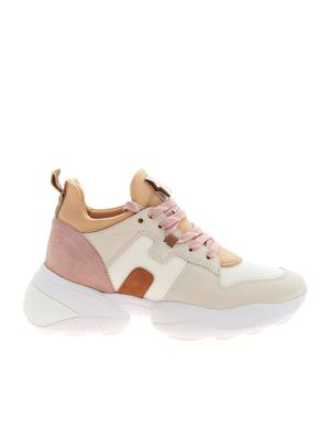INTERACTION SNEAKERS IN PINK AND BEIGE