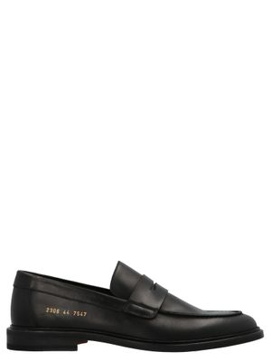 COMMON PROJECTS MEN'S 23067547 BLACK LEATHER LOAFERS