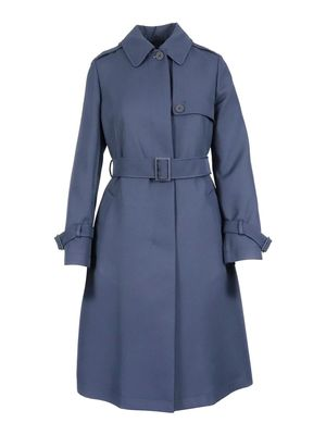 MAX MARA STUDIO WOMEN'S 60210617600002 BLUE OTHER MATERIALS COAT