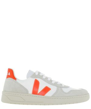 VEJA WOMEN'S VX012501 WHITE SUEDE SNEAKERS