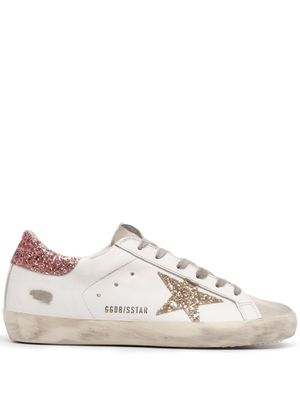 GOLDEN GOOSE WOMEN'S GWF00101F00101080780 WHITE LEATHER SNEAKERS