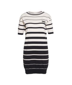 Jumper dress with logo embroidery