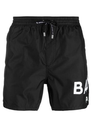BALMAIN PLACED LOGO SWIM SHORT DARK PINK Colour: DARK PINK