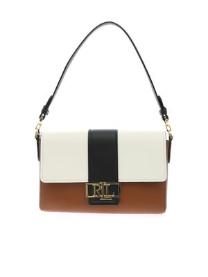 SPENCER BAG IN BLACK WHITE AND BROWN