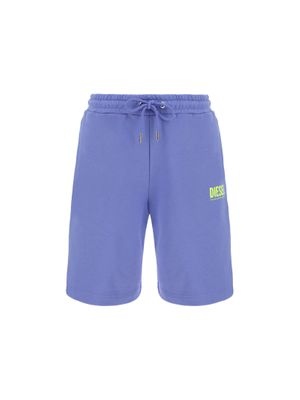 DIESEL MEN'S A024650BAWT64F PURPLE OTHER MATERIALS SHORTS