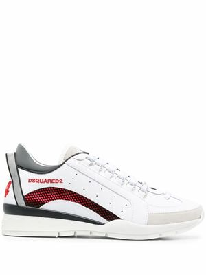 DSQUARED2 MEN'S SNM015330801660M1747 WHITE LEATHER SNEAKERS