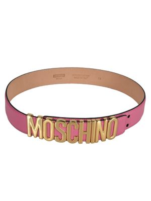 MOSCHINO WOMEN'S A80358008207 PINK LEATHER BELT