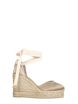 CASTANER WOMEN'S CHIARA8ED006CHAMPAGNE WHITE OTHER MATERIALS WEDGES