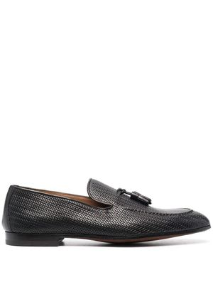 DOUCAL'S MEN'S DU2805CAPRUF073TM00 BLACK LEATHER LOAFERS