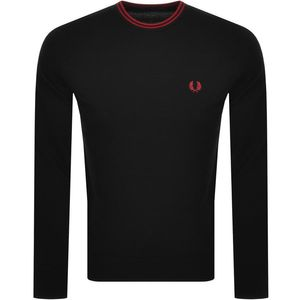 Fred Perry Classic Crew Neck Jumper K9601 Black/Red