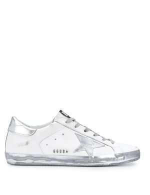 GOLDEN GOOSE SUPERSTAR SNEAKERS WHITE/SILVER Colour: WHITE/SILVER, Siz