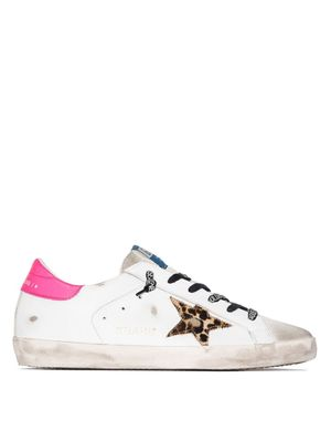 GOLDEN GOOSE SUPERSTAR SNEAKERS ICE/WHITE/BROWN/FUCHSIA FLUO Colour: I