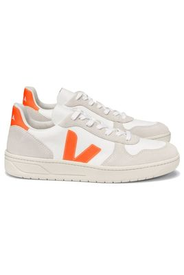V-10 B-Mesh Trainers - White Natural Orange-Fluo