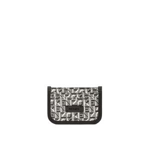 Kenzo Monogram Pipped Leather Card Holder Grey