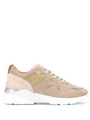 HOGAN WOMEN'S HXW3850DC30CR0M024 BEIGE SUEDE SNEAKERS