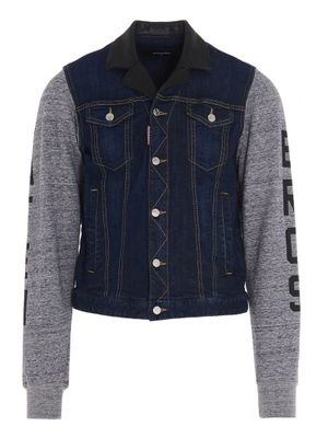 DSQUARED2 MEN'S S71AN0266S30342470 MULTICOLOR OTHER MATERIALS OUTERWEAR JACKET