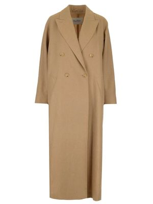 MAX MARA WOMEN'S 11210112600352007 BEIGE OTHER MATERIALS COAT