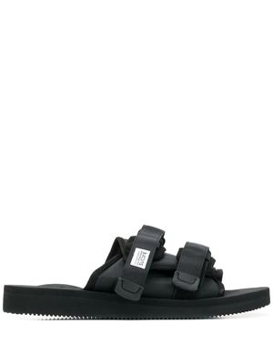 SUICOKE MEN'S OG056CAB001 BLACK POLYESTER SANDALS