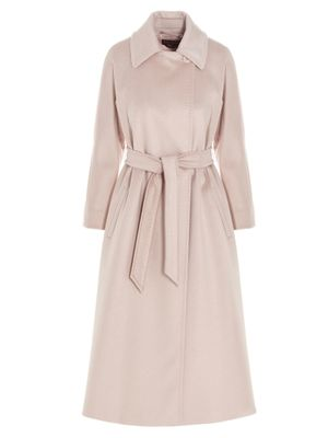 MAX MARA STUDIO WOMEN'S 60110517600610007 PINK OTHER MATERIALS COAT