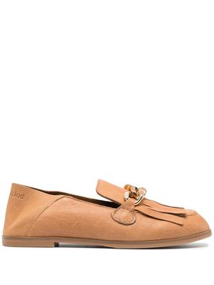 SEE BY CHLOÉ WOMEN'S SB36054A13111533 BEIGE LEATHER LOAFERS