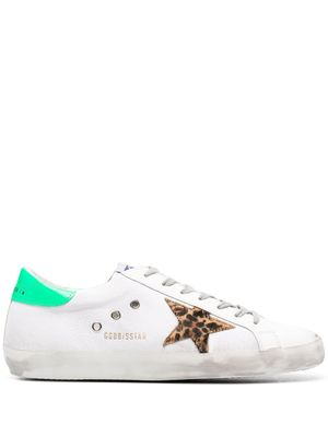 GOLDEN GOOSE MEN'S GMF00101F00123580917 WHITE LEATHER SNEAKERS