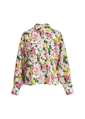 Zunco Floral Print Shirt in Pink