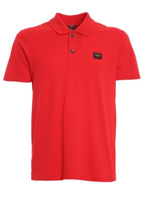 PAUL & SHARK MEN'S C0P1000SF577RED RED COTTON POLO SHIRT