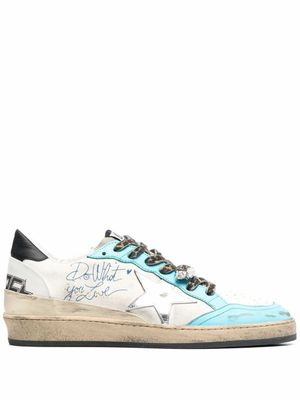 GOLDEN GOOSE MEN'S GMF00117F00125610538 WHITE LEATHER SNEAKERS