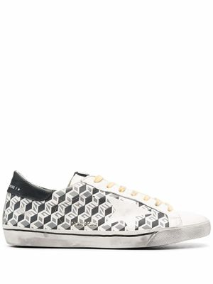 GOLDEN GOOSE MEN'S GMF00101F00078780530 WHITE LEATHER SNEAKERS