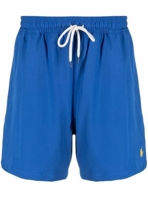 RALPH LAUREN MEN'S 710829851005 BLUE POLYESTER TRUNKS