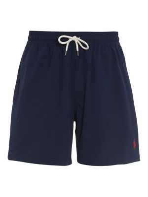 Stretch Fabric Swim Shorts