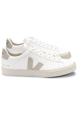 Campo Chrome Free Leather Trainers - Extra White Natural Suede