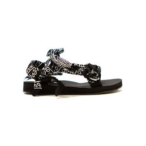 ARIZONA LOVE Trekky Chou Tie Up Sandals - Black Bandana