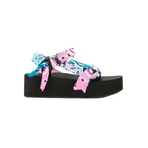 ARIZONA LOVE Trekky Platform Sandals - Blue & Pink